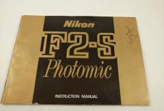 Camera Manual Nikon F2-S Photomic Instruction Guide English F2...