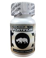 Bottle of 6 Pills Rhino Platinum 10K Male Performance MADE IN ...