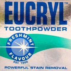 12 x Eucryl Freshmint Stain Removing Toothpowder 50g