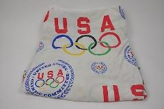 Vintage USA Olympics Committee TWIN Size Fabric Project Craft ...