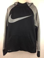 Nike Kid's Black and Gray Athletic Pullover Hoodie Size M
