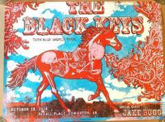 The Black Keys Edmonton CA 2014 Tour Gig Art Concert Poster Tu...