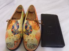 Womens Icon Portrait of Women (Gustov Klimt) Shoes Sz. 9 w/Fre...