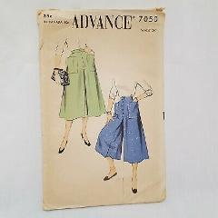 Misses Culotte Sewing Pattern 7050 Advance Size Waist 26