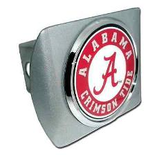 University of Alabama (Seal) Brushed Chrome Hitch Cover