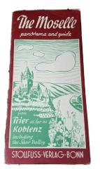Vintage The Moselle from Trier to Koblenz Saar Valley Map and ...