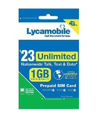 Lycamobile 23 Plan Prepaid 1st Month Free SIM Card 1GB 4G Lyca...