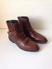 Vtg Hipster Diplomats Brown Leather Ankle Boots 10C Mexico