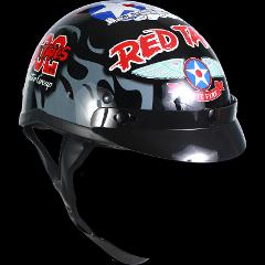 Tuskegee Airmen Red Tails Motorcycle Helmet Open Face US. Air ...