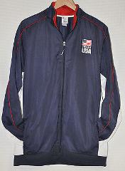 USA Olympic Committee TEAM APPAREL Track JACKET Navy BLUE Red ...