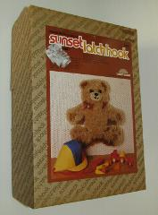 Teddy Bear Latch Hook Kit Sunset Designs Vintage Wall Hanging ...