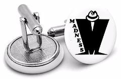 Madness Cuff Links ~ Ska ~ Trilby ~ Two Tone ~ handmade by Rus...