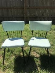 Mid-Century Modern Dining Chairs by Daystrom Furniture Blue An...