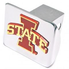 Iowa State Red Chrome Hitch Cover