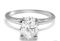 Oval Cut CZ Sterling Silver Solitaire White Cubic Zirconia Eng...