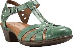 Rockport Cobb Hill Aubrey T Strap Sandals (Women's) in Teal Fu...