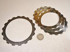77 FORD C6 335 AUTO TRANSMISSION REVERSE CLUTCH STEEL DISKS DI...
