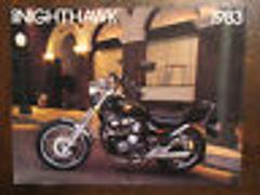 1983 HONDA NIGHTHAWK 550 CB550SC NOS OEM DEALER'S SALES BROCHU...