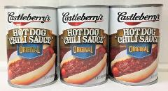 Castleberry's Original Hot Dog Chili Sauce 10 oz (3 cans) Cast...