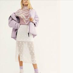 Free People Hailey Puffer Coat Jacket Lilac Cloud Small S NWT ...