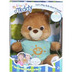 My Friend Teddy Interactive Bear Speaks English Spanish Plush ...