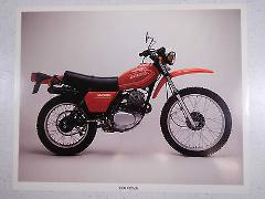 80 HONDA XL250S NOS OEM DEALER'S SALES SHEET LITERATURE BROCHURE