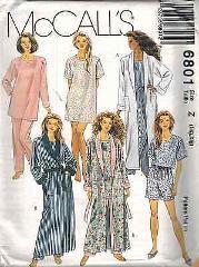 6801 UNCUT McCalls SEWING Pattern Misses Robe Tunic Top Pants ...