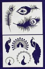 Peacock Stencils Mylar 2 Pieces of 14 Mil 8