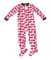 Carters Fleece Footed Pajama Blanket Sleeper 14 Fire Engine La...
