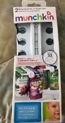 Munchkin 2 Baby Food Pouch Organizers NEW in Box Holds 32 Pouches