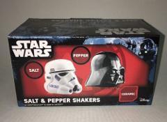 STAR WARS STORM TROOPER DARTH VADER SALT AND PEPPER SHAKER SET...