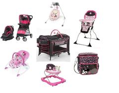 Disney Minnie Mash Up Complete Baby Gear Bundle with Swing & D...
