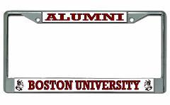 Boston University Alumni Chrome License Plate Frame
