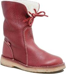 Duckfeet Arhus Shearling Lined Boots in Granate Leather - NEW