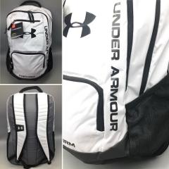 Under Armour White Backpack UA Team Hustle STORM Laptop Sleeve...