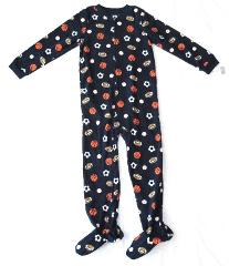 Boy Carters Fleece Footed Pajama Blanket Sleeper Size 12 14 Na...
