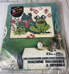 Vintage Red Heart Rug Pattern 23 X 29 -frogs