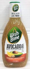 Wishbone Avocado Oil Roasted Garlic Citrus Salad Dressing 15 oz