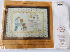 Vintage Nursery Time Cross Stitch NIP Kit 12x16 By The Creativ...