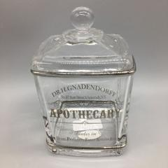BELLA LUX Parisian Dr H Gnaderdoff Apothecary Glass Jar Cotton...