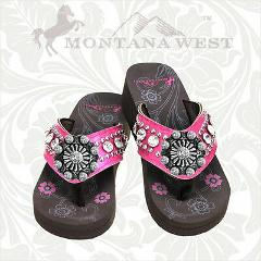 Montana West Bling Bling Hot Pink Flip Flops with Rhinestones ...