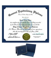 Ged Diploma Personalized Novelty diplomas with FREE CERTIFICAT...