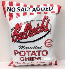Ballreich's Marcelled Potato Chips No Salt Added 7 oz