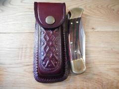 Brown leather knife sheath for up 5