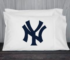 New York, Yankees, Pillowcase, Standard, Queen Size, Microfibe...