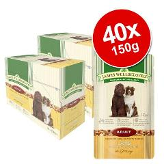 James Wellbeloved Pouches Saver Pack 40 x 150g Wet Dog Food Hi...
