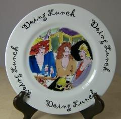 Doing Lunch Salad Plate by Anna Ormsby House of Prill 2002 7.75