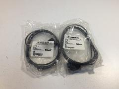 (2) Turck VIS 2-F587-2M Valve Connector Cordsets - Lot of 2