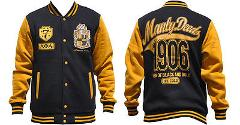 ALPHA PHI ALPHA LETTERMAN JACKET MANLEY DEEDS 1906 FLEECE FRAT...