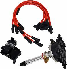96 02 Chevy GMC VORTEC Distributor, 8mm Spark Plug Wires, Igni...